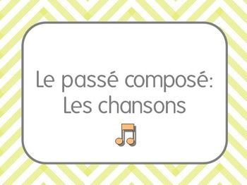 Reinforce le pass compos with authentic French music! This packet contains 14 different authentic French songs that focus on le pass compos with both avoir and etre. For most of the songs I have created a word bank and blanks for students to fill in the missing verbs as they listen.