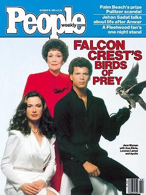 Falcon Crest:  Angela Channing, Melissa Agretti Cumson and Lance Cumson