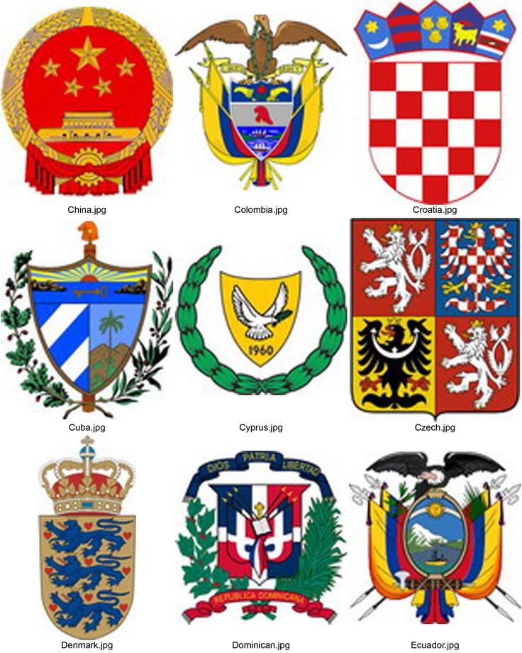 гербы стран мира с названиями и фото раніше відпочивали