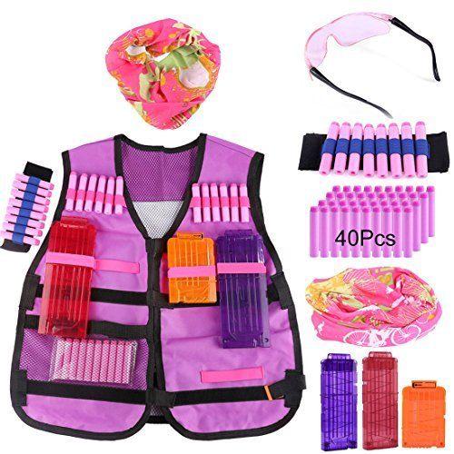Tactical Vest Yamix Kids Elite Tactical Vest Kit for nerf rebelle series blaster   Type 5. #Tactical #Vest #Yamix #Kids #Elite #nerf #rebelle #series #blaster #Type