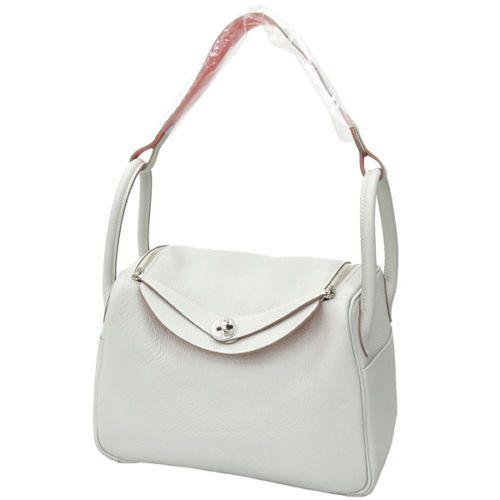 Auth HERMES Lindy 30 Shoulder Bag Handbag Gris Perle Crevette ...