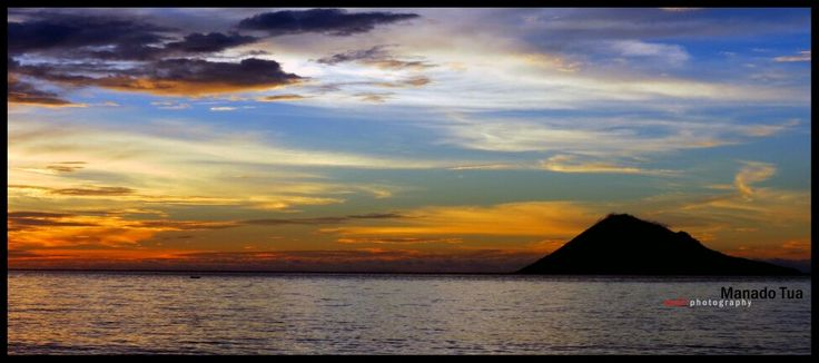 manado tua mountain... the beautifull sunset from manado north sulawesi indonesia...