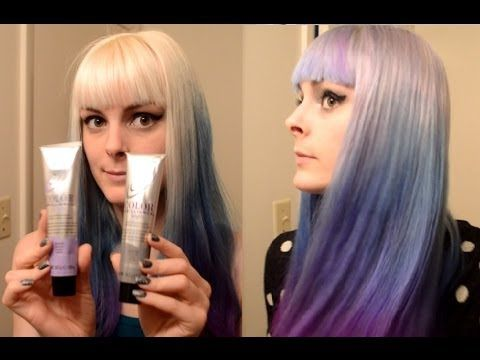 Dyeing My Hair Silver, Blue, and Purple~ Ombre hair dye tutorial - YouTube