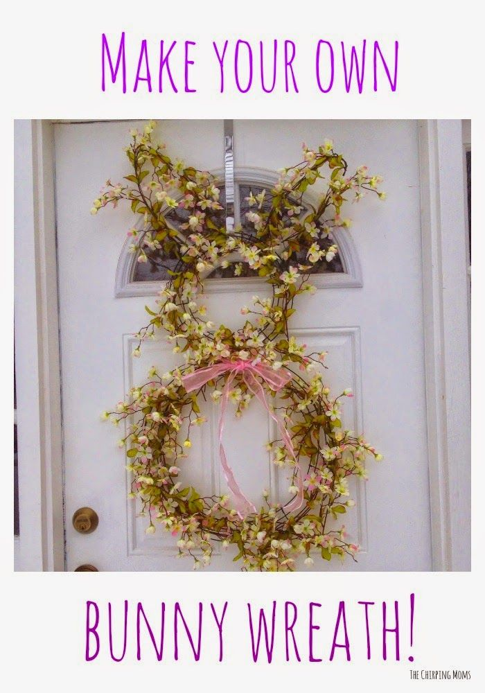7 best images about easter on pinterest legends crafts for How to make a spring wreath from scratch