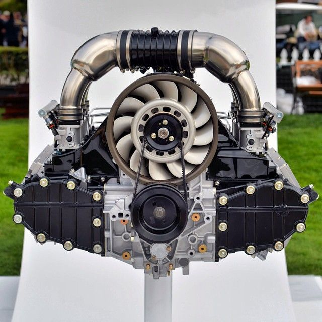 Our first 4.0-liter engine on display at the Quail Motorsports Gathering #singer…