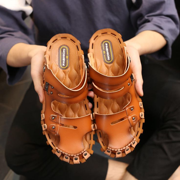 Men <b>Beach Shoes Breathable Sandals</b> Cooler <b>Summer</b> Mixed Slip ...