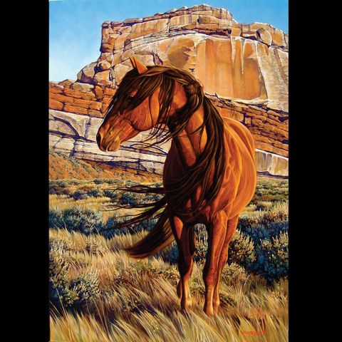 Breath of Time - horse painting by Scot Weir | Mustang ...
