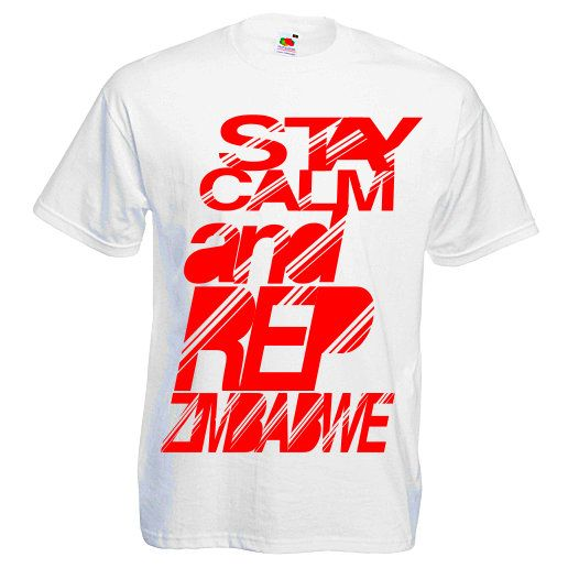 """Grab yourself a """"S.C.A.R.Z - Stay Calm and Rep Zimbabwe"""" T-Shirt from our Online Store. You Will Receive a Surprise """"Thank You Gift"""" from Us http://manicawear.co.uk/"""