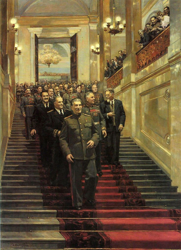 """Painting by Dmitry Nalbandian - """"State Reception in the Kremlin on May 24, 1945"""""""