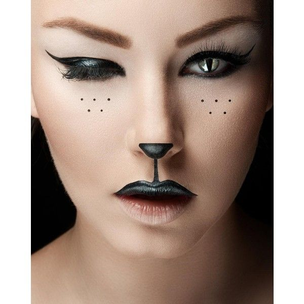 diy halloween makeup easy cat halloween makeup fereckels liked on polyvore featuring makeup and people - Cat Eyes Makeup For Halloween
