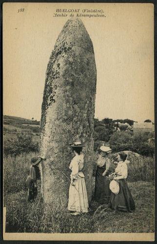 Menhir de Kérampeulven, Huelgoat  Neurdein et Cie, Paris (388) green reverse