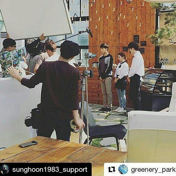 33 個讚,1 則留言 - Instagram 上的 Debbie Moh(@debbie_moh):「 #Repost @sunghoon1983_support ・・・ BTS #SUNGHOON from new movie shooting Tentative Movie title .… 」