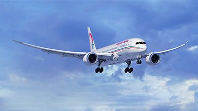 Royal Air Maroc celebrates its first delivery of the 787 Dreamliner