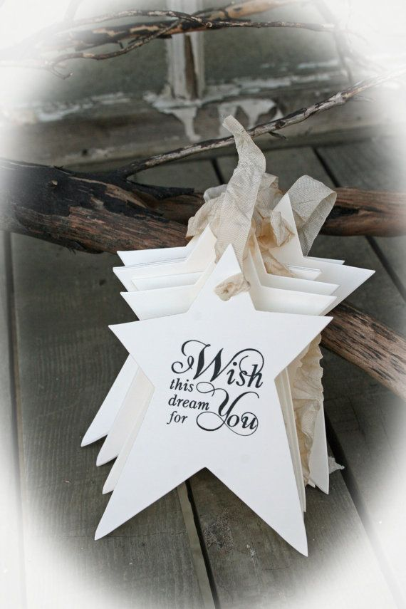 25 Wishing Tree Tags Baby Shower Wishing Tree by MerryMeDesign