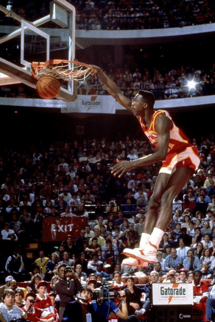 1988 NBA Slam Dunk Contest | NBA Gallery  Probably the hardest dunker ever!