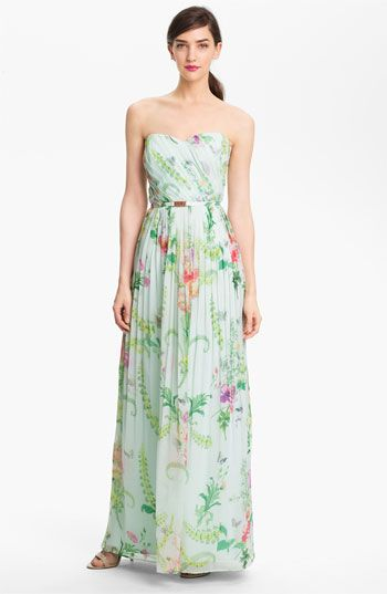 For Shower?  Ted Baker London 'Wallpaper' Pleated Maxi Dress (Online Exclusive) available at #Nordstrom