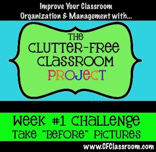 Week #1 of the Clutter-free Classroom Challenge.  Use the links at the bottom of the post to navigate to Week #2, #3, and so on.