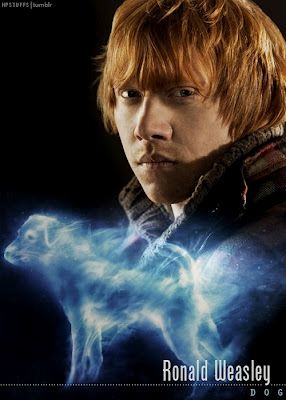 Ron Weasley's patronus is a Jack Russell Terrier, known for chasing Otters. Hermione Granger's patronus is an Otter. I see what you did there (;