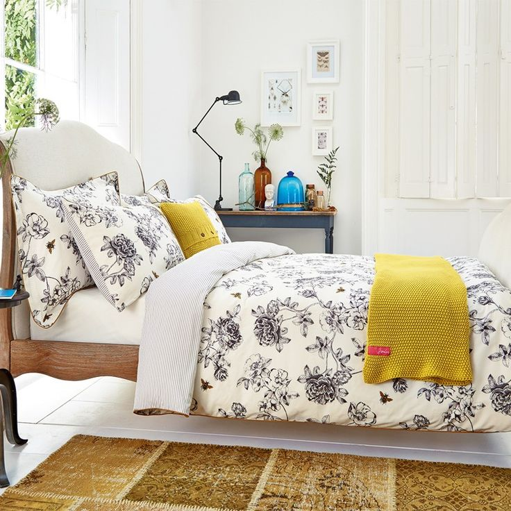 Cream Floral Bedding | Joules Imogen Cream Bed Linen at Bedeck Home