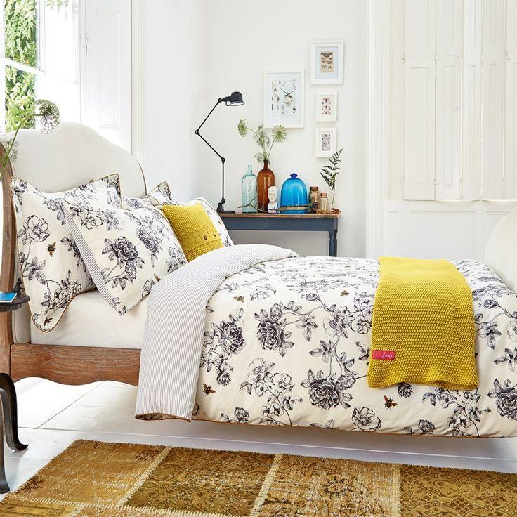 Cream Floral Bedding | Joules Imogen Cream Bed Linen at Bedeck Home