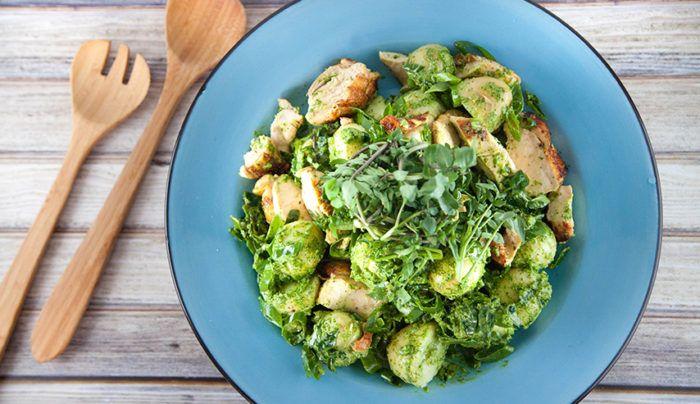 Green Tahini Chicken and Potato Salad | Good Chef Bad Chef