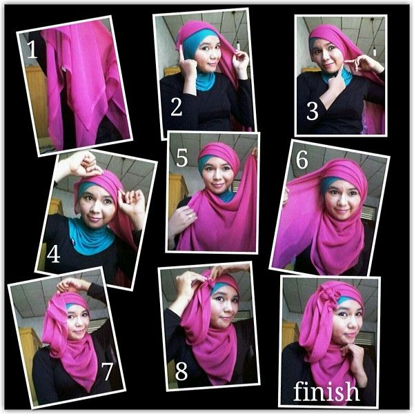easy hijab tutorial for the party