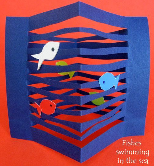 Fish art project. It is easy  paper craft fish 3D