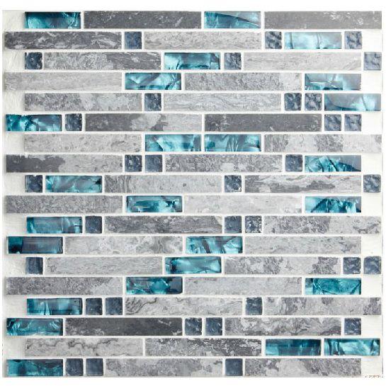 Hot kitchen backsplash tiles bule nature stone marble granite tiles glass swimming pool bath wall tub area fireplace mosaic tile-inMosaics f...