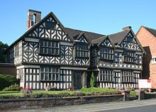 Nantwich, Cheshire, England - - Churche's Mansion, one of the few buildings in Nantwich to survive the fire of 1583.