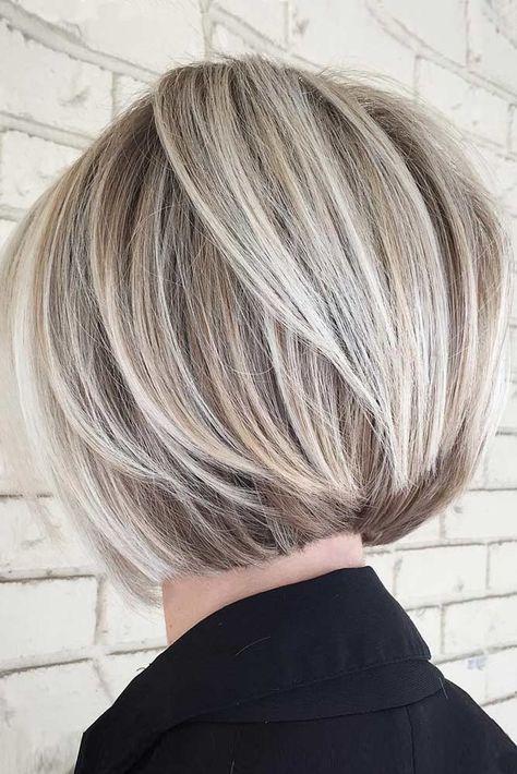 40 blonde kurze Frisuren für runde Gesichter #Blonde #Frisuren #Frisuren …