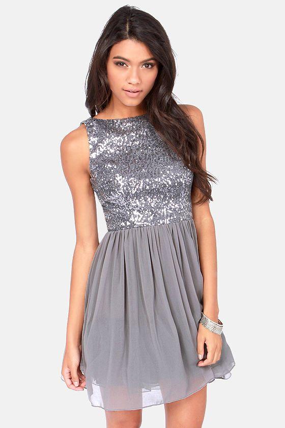 BB Dakota Holly Silver Sequin Dress at LuLus.com $87