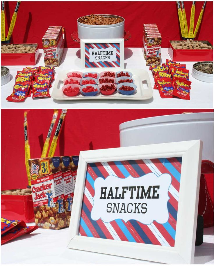 Halftime Snacks | Dessert Table for Sports Party | Superbowl food | Thoughtfully Simple