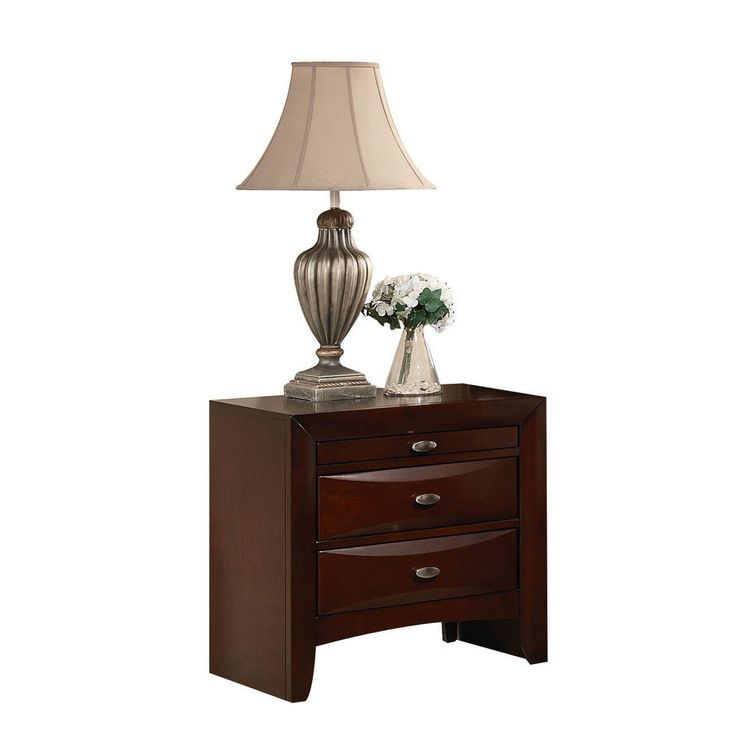 "Ireland Espresso Nightstand (Espresso, 26L x 17""W x 25""H), Brown, Size 2-drawer (MDF)"