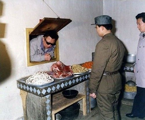 Kim Jong-Il - Looking at the kitchen cabinet