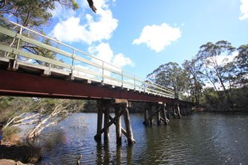 Denmark, Western Australia   Denmark Heritage Rail Bridge over the Denmark River. One of the wonderful walking trails of Denmark, Western Australia