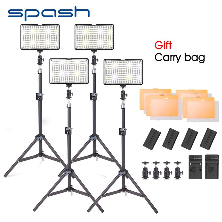 Find More Photographic Lighting Information about spash TL 160S LED Video Light Kit 4pcs Photo Studio Lamp Photographic Lighting with Tripod Dimmable 3200K 5600K NP F550 Battery,High Quality Photographic Lighting from SPASH Official Store on Aliexpress.com