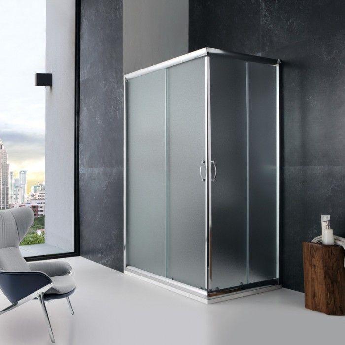 Box doccia rettangolare modello giada 80x120 cristallo