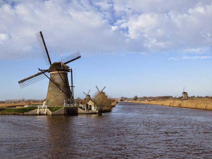 Windmills, Alblasserwaard, Zuid-Holland, Netherlands