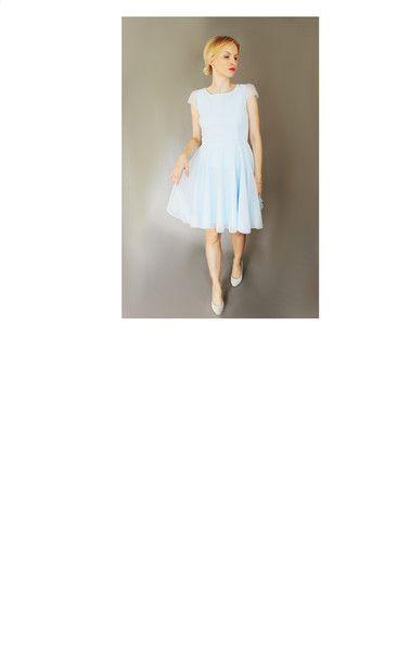 SUPER ROZKLOSZOWANA TIULOWA SUKIENKA BABS - B_A_B_S - Sukienki koktajlowe