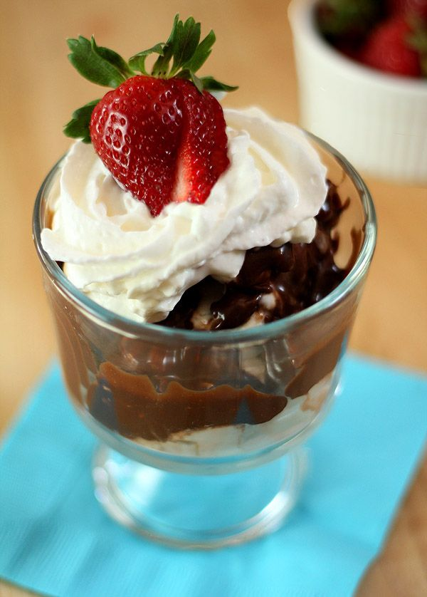 Espresso Hot Fudge Sauce with Toasted Walnuts. We would say more, but ...