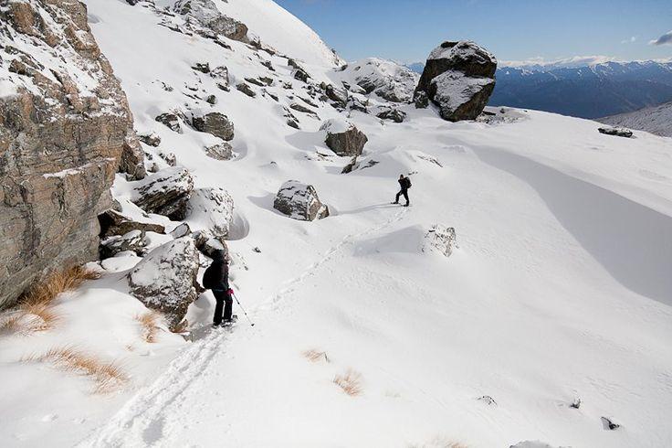 Snowshoeing, The Remarkables, Queenstown, New Zealand