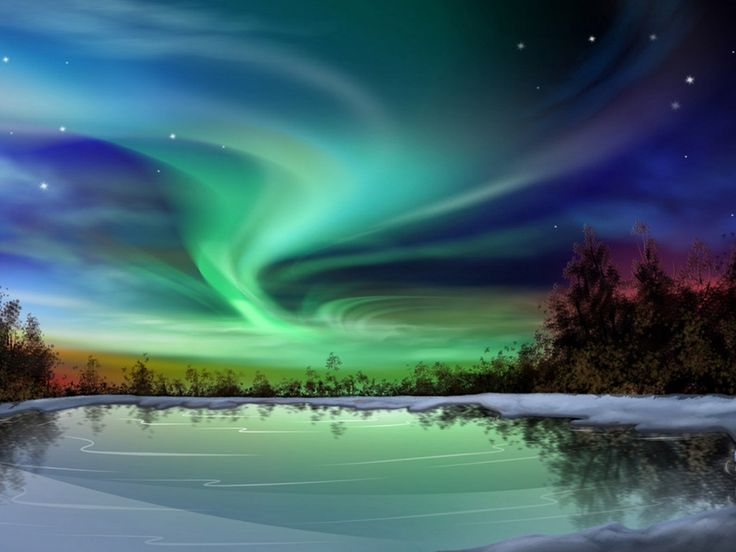 Green Aurora Borealis - HD Wallpaper