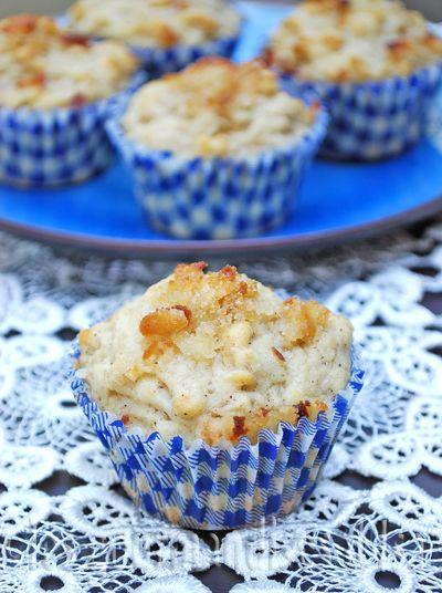 muffins à la compote de pomme et à la pâte d'amande