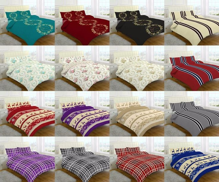 NEW FLANNELETTE SHEET SET FITTED SHEET FLAT SHEET WITH PILLOW CASES 100% COTTON