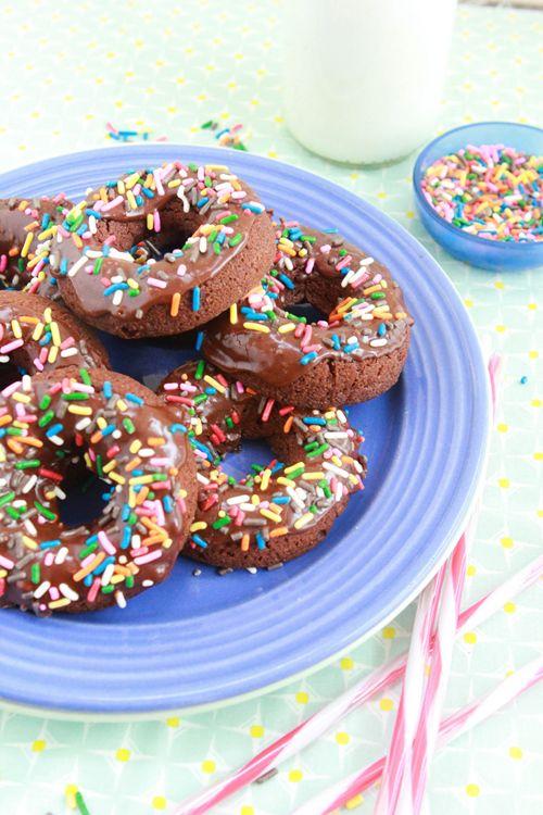 Vegan Chocolate Doughnuts #healthy #doughnuts #recipes