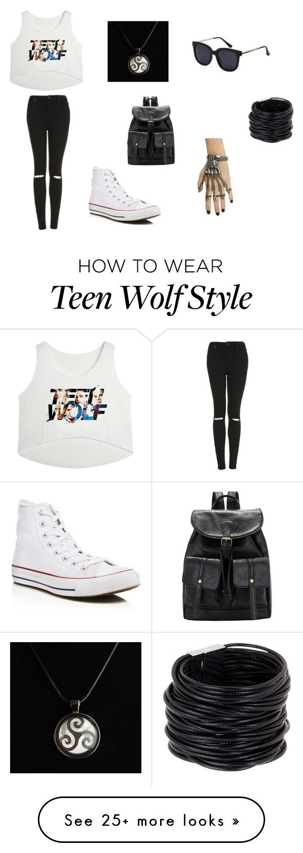 """""""sorry"""" by vane-garcia04 on Polyvore featuring Topshop, Saachi and Converse"""