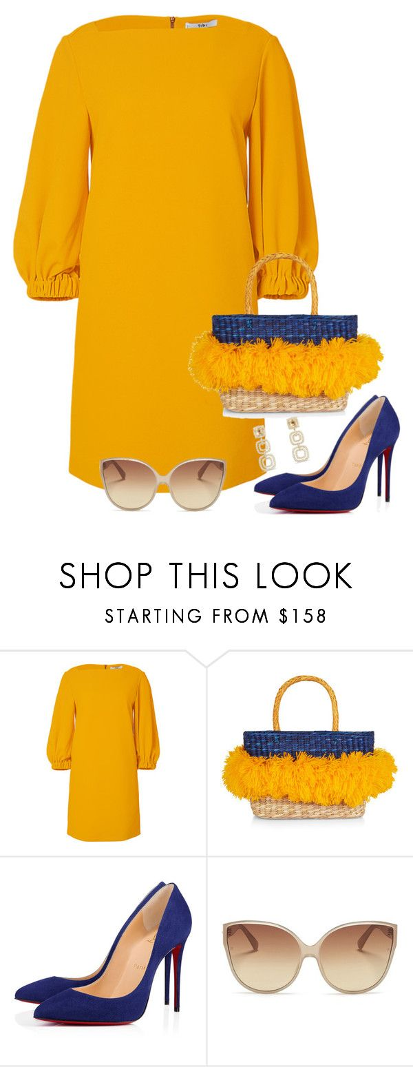 """Untitled #3572"" by elia72 ❤ liked on Polyvore featuring TIBI, Nannacay, Christian Louboutin, Linda Farrow and David Yurman"