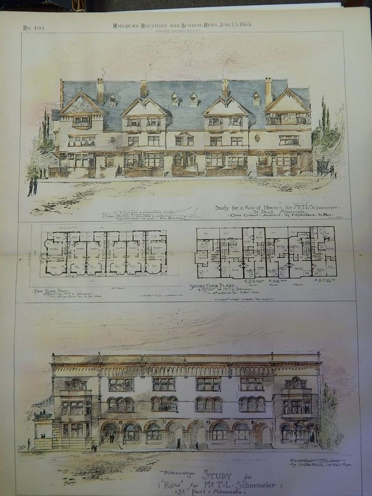 A Beautifully Detailed Original Plan of a