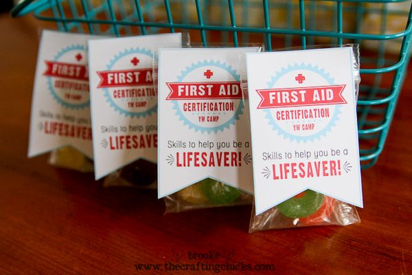 yw camp first aid lifesavers handout