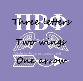 Pi Beta Phi: Three letters, Two wings, One Arrow #piphi #pibetaphi (made by me!)